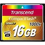 Transcend 16GB Compact flash card 1000x
