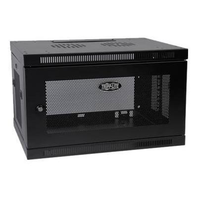 Tripplite Srw6u 6u Wall Mount Rack Enclosure Server Cabinet W/ Door & Side Panels - Cabinet - Wall Mountable - Black - 6u - 19