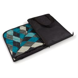Vista Black and Blue Argyle Outdoor Blanket
