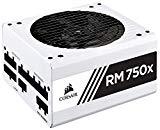 CORSAIR RMX White Series (2018), RM750x, 750 Watt, 80  Gold Certified, Fully Modular Power Supply - White