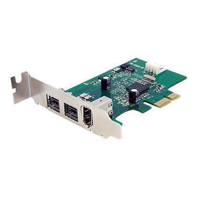 Startech.com Pex1394b3lp 3 Port 2b 1a Low Profile 1394 Pci Express Firewire Card Adapter - Pci Express 1394a - Pcie Firewire 400 Card