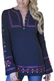 Alp-n-Rock Women's Dala Floda Long Sleeve Knit Tunic, 51% Cotton, 49% Modal Jersey, Navy, Size 1