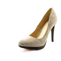 Cole Haan Chelsea High Pump Womens Nude Suede Pumps Heels Shoes