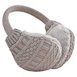 GomyWell Autumn Winter Unisex Outdoor Earmuffs Knit Ear Warmers Adjustable Muffs Gray