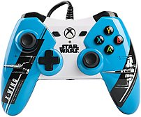The officially licensed Star Wars  The Force Awakens wired controllers for XBOX One feature all new imagery from Episode 7 the latest in the Star Wars saga