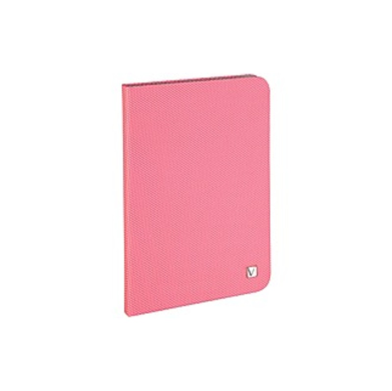 "Verbatim Folio Hex Case For Ipad Mini (1,2,3) - Bubblegum Pink - Microsuede Interior - Textured - 8.3"" Height X 5.7"" Width X 0.5"" Depth"