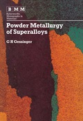 Powder Metallurgy Of Superalloys