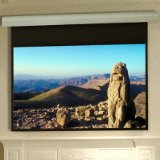 Silhouette/Series E Contrast Grey Electric Projection Screen with Low Voltage and Quiet Motor Size/Format: 109