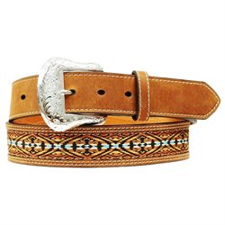 Nocona Western Belt Mens Ribbon Inlay Southwest N24748