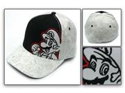 Nintendo: Mario Outline Black And White Cap