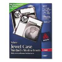 Cd/dvd White Matte Jewel Case Inserts For Laser Printers