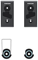Samsung Wmn450m Mounting Kit For 32-65 Inches Flat Panel Tv - 110.0 Lbs Load Capacity
