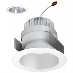Nora Lighting NLEDC-56140CW 5 in. Damp Label LED Dedicated Diamond Series, Specular Clear Reflector & White Flange, 4000K