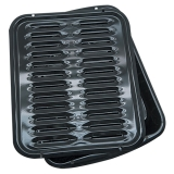 PORCELAIN BROILER PAN and GRILL