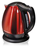 Hamilton Beach 40872 Stainless Steel Red Ensemble Electric Kettle, 10-Cup