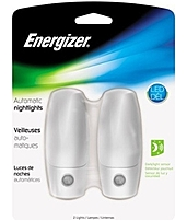 Energizer Enlplau2 Traditional Auto Nightlight - 2-pack - Led - White