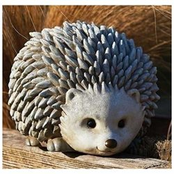 8.25 Pudgy Pals Weather Finished Hedgehog Outdoor Garden Statue Figure