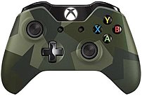 Get precise action commands and extend gaming time with Microsoft GK4 00042 Xbox One Special Edition Armed Forces Wireless Controller