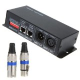 TOMTOP DC 12V-24V 3 Channel DMX Decorder LED Controller for RGB 5050 3528 LED Strip Light