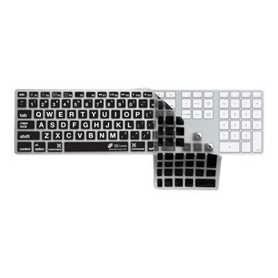 Kb Covers Lt-ak-cb Large Type Keyboard Cover Lt-ak-cb - Keyboard Cover - Black  Clear - For Apple Keyboard With Numeric Keypad