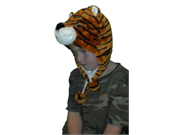 Iwgac 0126-10k-tiger Kids Tiger Hat With Attached Scarf