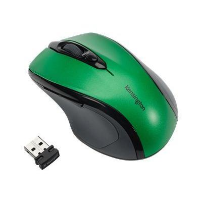 Kensington K72424am Pro Fit Mid-size - Mouse - Right-handed - Optical - Wireless - 2.4 Ghz - Usb Wireless Receiver - Emerald Green