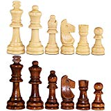 ASNEY Wooden Chess Pieces, Tournament Staunton Wood Chessmen Pieces Only, 3.15
