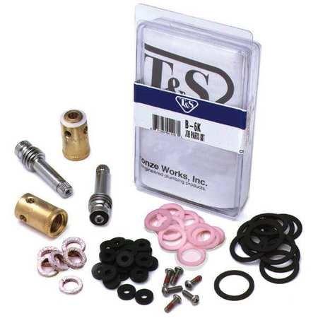 T & S Eterna Spindle Parts Kit, Chrome, B-6K