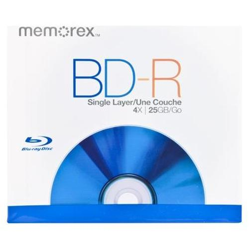 Memorex 4x BD-R Media - 25GB - 120mm Standard - 1 Pack Jewel Case