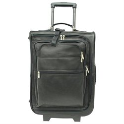 Piel Personalized Leather 19-Inch Multi-Pocket Luggage