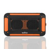 Veho VXS-002-ORG 360 Vecto Wireless Water Resistant Outdoor Speaker with 6000mAh Powerbank, Microphone, MP3 player, Pouch, 4GB Memory Card & Karabiner