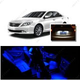 Ameritree Blue LED Lights Interior Package   White LED License Plate Kit for Toyota Camry with Sunroof 2012-2014 (9Pcs)