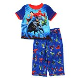 Justice League Toddler Blue Poly Pajamas (4T)