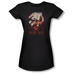 Girls(8-12yrs) LORD OF THE RINGS Cap Sleeve URUK HAI Medium T-Shirt Tee