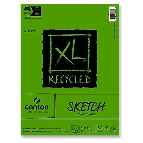 Canson XL Recycled Sketch Pads 3.5 in. x 5.5 in.