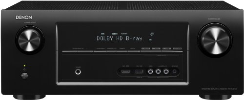 Denon AVR 2113 7.1 AV-Receiver (6 HDMI mit 3D, 4K, Airplay, Spotify, Internetradio, Netzwerk, USB, 7x 125 Watt) schwarz
