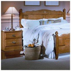 Carolina Furniture 232200 Drawer Night Stand Nightstand In Golden Oak