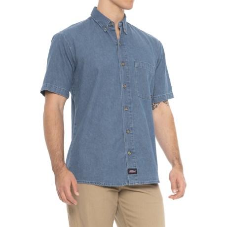 Denim Shirt - Short Sleeve (for Men)