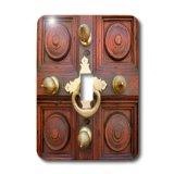 lsp_187423_1 Danita Delimont - Charles Cecil - Doors - Zanzibar, Tanzania. Door Knocker on the Door to Ithnasheri Mosque. - Light Switch Covers - single toggle switch