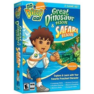 Go Diego Go! Great Dinosaur Rescue & Safari Rescue-2 Game Set - Complete Package