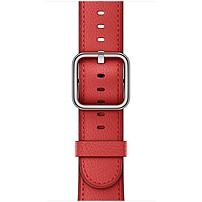Apple 38mm Red Classic Buckle - Red - Calf Leather Mpwe2am/a