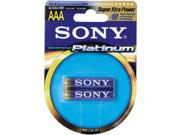 Sony Am4pt-b2a Platinum Alkaline Battery Blister Multipacks (aaa; 2 Pk)