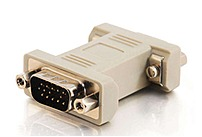 Cables To Go 02752 Gender Changer - 1 X 15-pin Hd-15 Male/male - Beige
