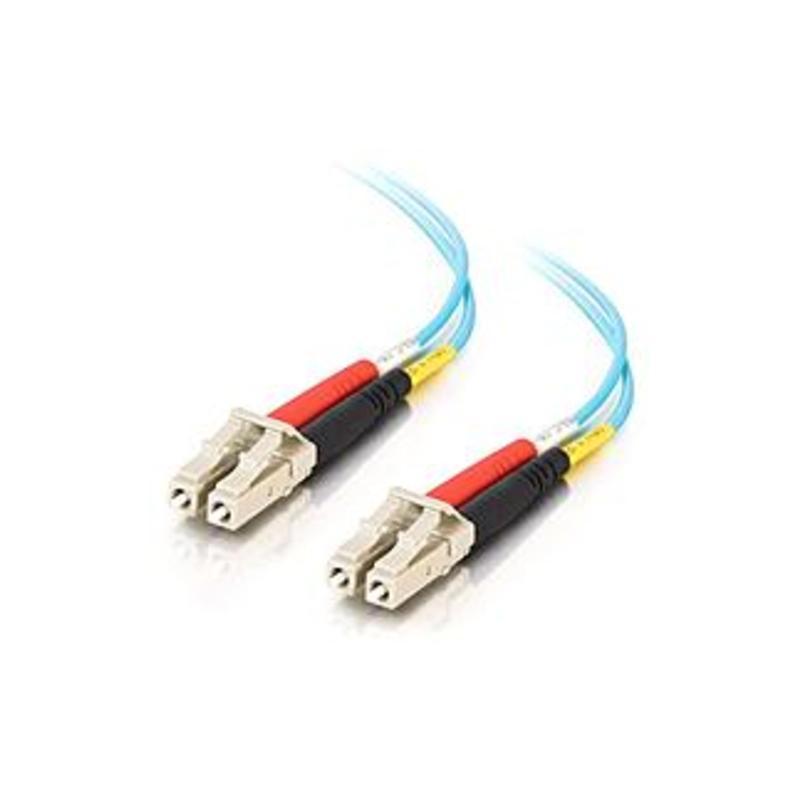 C2g 3m Lc-lc 10gb 50/125 Duplex Multimode Om3 Fiber Cable (taa Compliant) - Aqua - 10ft - 3m Lc-lc 10gb 50/125 Duplex Multimode Om3 Fiber Cable (taa C