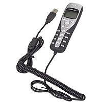 P Call around the world for free with the USRobotics USB Internet Phone