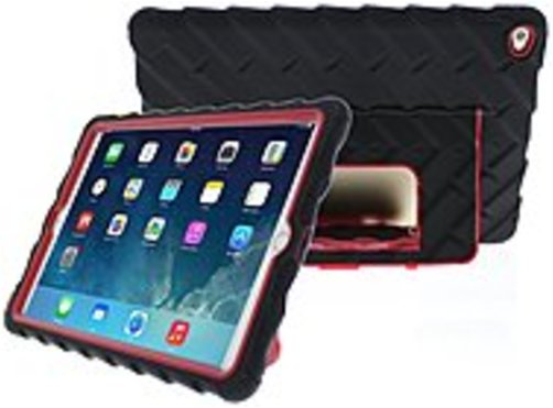 "Gumdrop Hideaway Case For Ipad Air 2 - Ipad Air 2 - Black, Red - 72"" Drop Height"