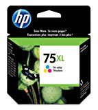 HP 75XL CB338WN#140 Tri-color  Ink Cartridge in Retail Packaging