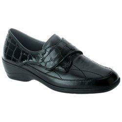 Spring Step Jaye Black Croco - Womens Loafers