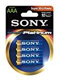 Sony Stamina Platinum Alkaline AAA Batteries (4-Pack)