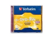 Verbatim Dvd rw 4.7gb 4x Branded 1pk Jewel Case